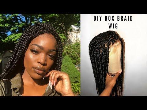 DIY BOX BRAID WIG   How to Braid Box Braids For Beginners