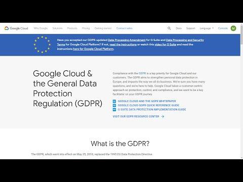 GCP Professional Cloud Architect Certification - GDPR Compliance ...