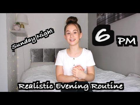 Realistic Sunday EVENING Routine   GRWM for a School week!