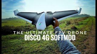 Seventh flight: Parrot DISCO Unlimited Range! 4G LTE softmod