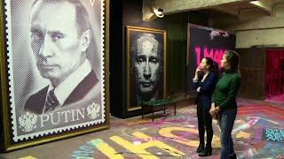 """Russian strongman appears as """"Superputin"""" in new exhibition"""