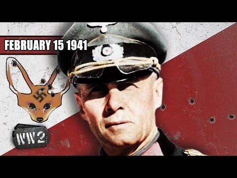 Erwin Rommel přijíždí do Afriky - Druhá světová válka