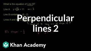 Perpendicular lines 2