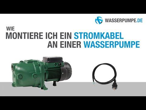 Gewusst wie: Stromkabel an einer Wasserpumpe montieren [230 Volt]