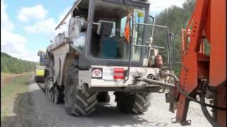 Ремонт дороги Воткинск - Кельчино холодным ресайклингом и ДорЦем