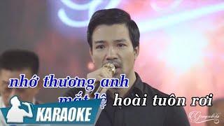 Karaoke Mảnh Vỡ Tình Sầu Tone Nam - Bùi Kiên | Nhạc Vàng Bolero Karaoke