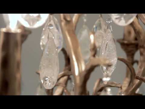 Video for Amadeus Vienna Bronze Three-Light Chandelier with Italian Drops