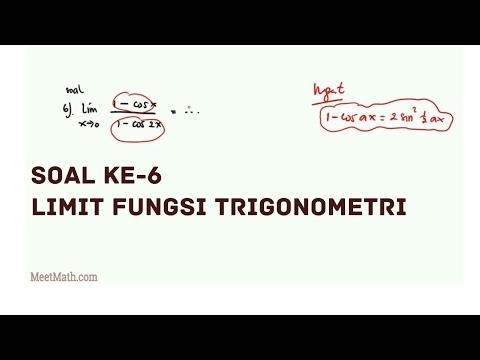 Limit Fungsi Trigonometri - Contoh 6