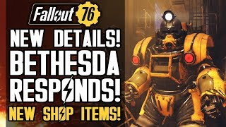 Fallout 76 - NEW UPDATES! Bethesda Responds to Feature Requests and Concerns! New Shop Items!