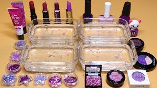 *PURPLE Collection* # Mixing Lip section,glitter Section and Nail section, Shadow Section into Slime