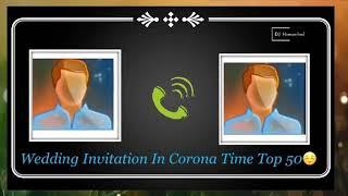 Funny Wedding Invitation In #Corona Time