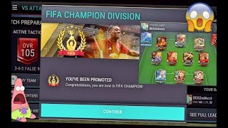 FIFA Mobile REACHING FIFA CHAMPION!?! *INTENSE* GAMEPLAY with BIG STAKES!!| FIFA Mobile iOS Gameplay
