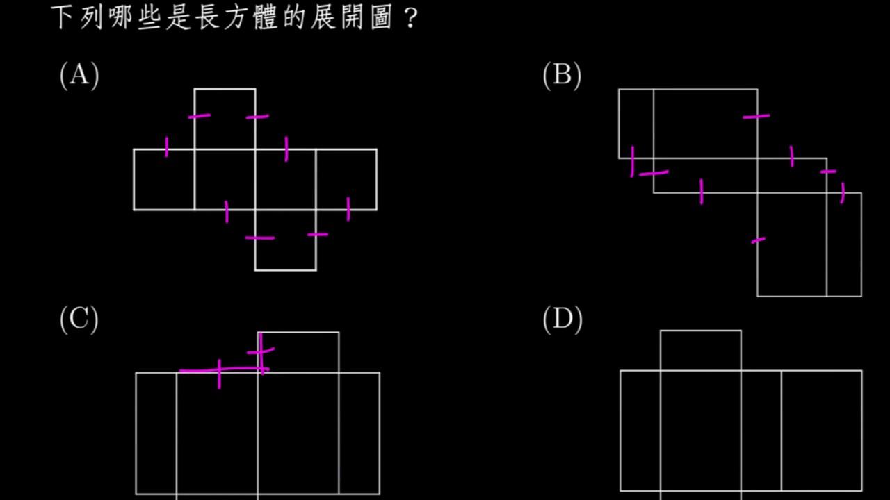 【例題】長方體的展開圖 | 空間概念與立體形體 | 均一教育平臺