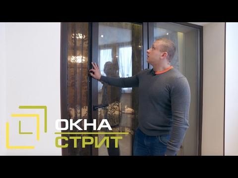 Раздвижные двери на лоджию и окна из лиственницы