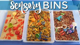Sensory Bins Three Ways | DAYCARE DAY