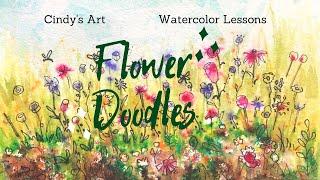 Watercolor Doodle Flowers  (2020)
