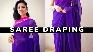 How beginners can drape a Saree in *6 Easy Steps*