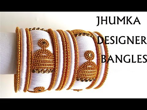 How to Make simple and easy Silk Thread Bangles Tutorial || My Threads My World