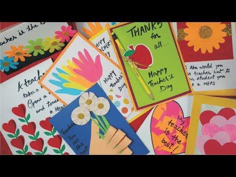 Diy teachers day card handmade teachers day card making idea diy teachers day card handmade teachers day card making idea greeting card for teachers day m4hsunfo