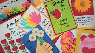 Teacher s day greeting card making for kids videos m4hsunfo