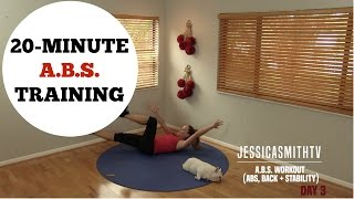 20 Minute Abs, Back, Core Training Full Length Workout - No Equipment Needed by jessicasmithtv