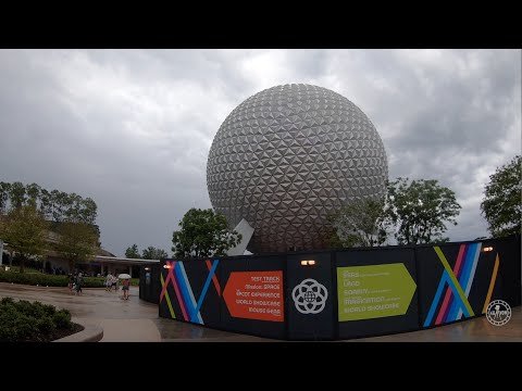 Full Walk Around EPCOT In The Rain | Walt Disney World Orlando Florida August 2020