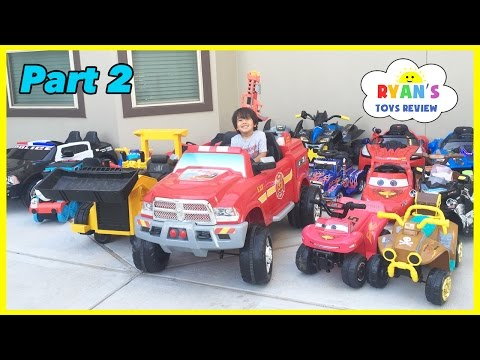 HUGE POWER WHEELS COLLECTIONS Ride On Cars for Kids Compilations Part 2 Disney Cars Paw Patrol