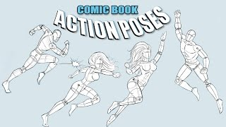 How To Draw Action Poses - Comic Book Superheroes - Narrated