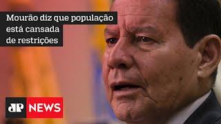 Mourão defende campanha de conscientização sobre pandemia, mas é contra lockdown