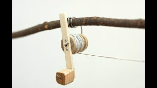 Как сделать катушку для рыбалки из дерева