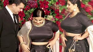 Actress Vidya Balan SHOCKING Weight Gain At Deepika Ranveer Reception