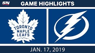 NHL Highlights | Maple Leafs vs. Lightning - Jan. 17, 2019
