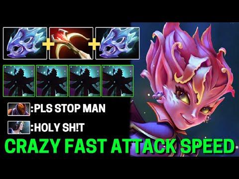CRAZY FAST +310 Attack Speed 2x Moonshard + Daedalus Dark Willow LVL 30 Epic Battle vs Anti Mage Dot
