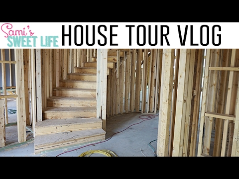 THAT STAIRCASE THO! FRAMED HOUSE TOUR | Building Our Dream Home Vlog Ep. 6