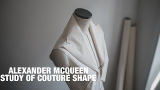 ALEXANDER MCQUEEN | STUDY OF COUTURE SHAPE COLLAR PART 2【Pattern Making / Draping/ Sewing / Vlog】