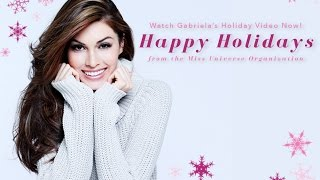 Miss Universe 2013, Gabriela Isler gives back gifts on Holiday.