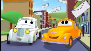 Odtahové auto pro děti - Pošťovní auto Petr Odtahové auto Tom ve Městě Aut