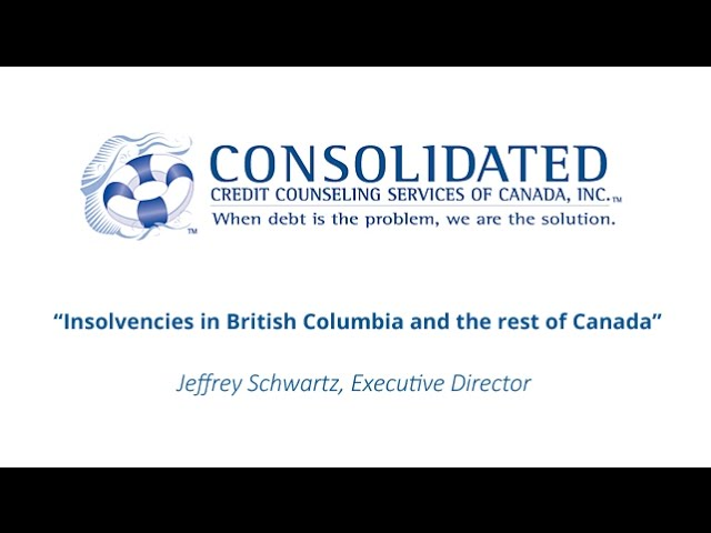 Insolvencies in British Columbia and the rest of Canada