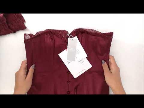 Svůdný korzet Miamor corset bordó - Obsessive
