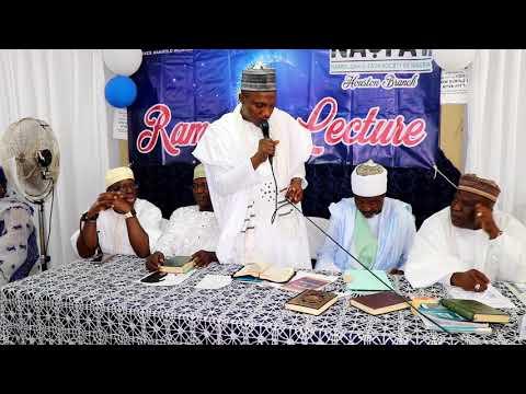 Nasfat Houston Branch 2018 Ramadan Public Lecture