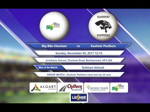 Video Big Bite Chesham VS Kashmir Panthers - 05-Nov-2017