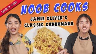 Noob Cook Tries Cooking Classic Carbonara | Eatbook Cooks | EP 18