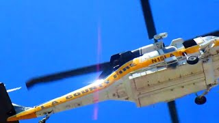 Two Dynamic, Successive Flyovers of the LACoFD Helicopter | July 14, 2018