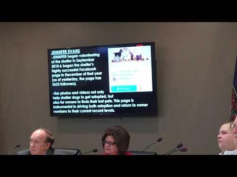 Video: Scott County Animal Shelter recognizes Jennifer Evans