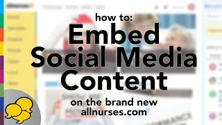 View the video Embedding Social Content