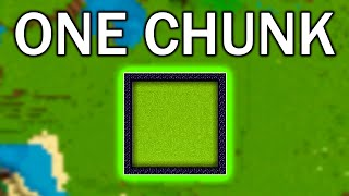 Can you play Minecraft without ever leaving your spawn chunk?