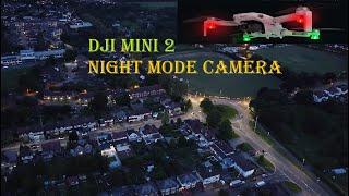 Great Drone Footage at Night, Dji Mavic Mini 2 Best 4k Video Camera Night Mode Aerial Cityscape