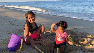 Sarah E Sophia  Aventura Em Família  Ocean City Maryland, Um Dia De Praia! 🏖☀️🇺🇸