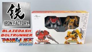 Transformers Review: Iron Factory IF EX-26 Blazedash & Boltrunner // P4L Reviews