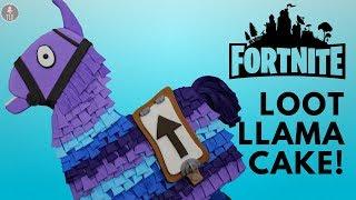 Fortnite Loot Llama Cake Tutorial!